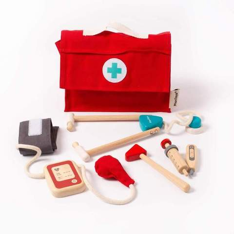 Wooden Doctor Set by Plan Toys. A fun educational toy children who want to doctor.