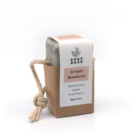 Natural handmade Soap On A Rope by Soap Daze. Made in UK