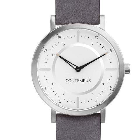 Kupolo Stalo Watch by CONTEMPUS, with its stainless steel casing and silver-grey strap.