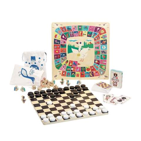 Set of Classic Board Games by Vilac for the whole family
