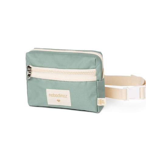The Sunshine Kids Fanny Pack in Eden Green is a stylish carry-all for kids, tweens, and teens. It's large enough to carry a pencil case, notepad, or a smartphone.