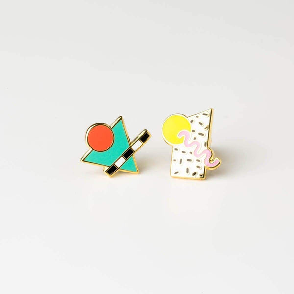 80's Memphis Style Earrings - Studs Earrings - Yellow Owl Workshop - Totem Store