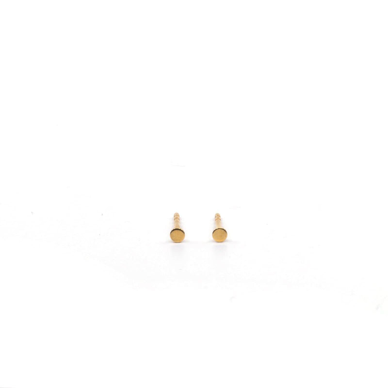A Pair Round - Gold Plated - Studs Earrings - Yab Studio - Totem Store