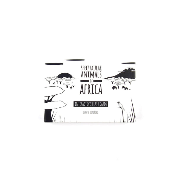 African Animals - Flash Cards - Black & White Book Project - Totem Store