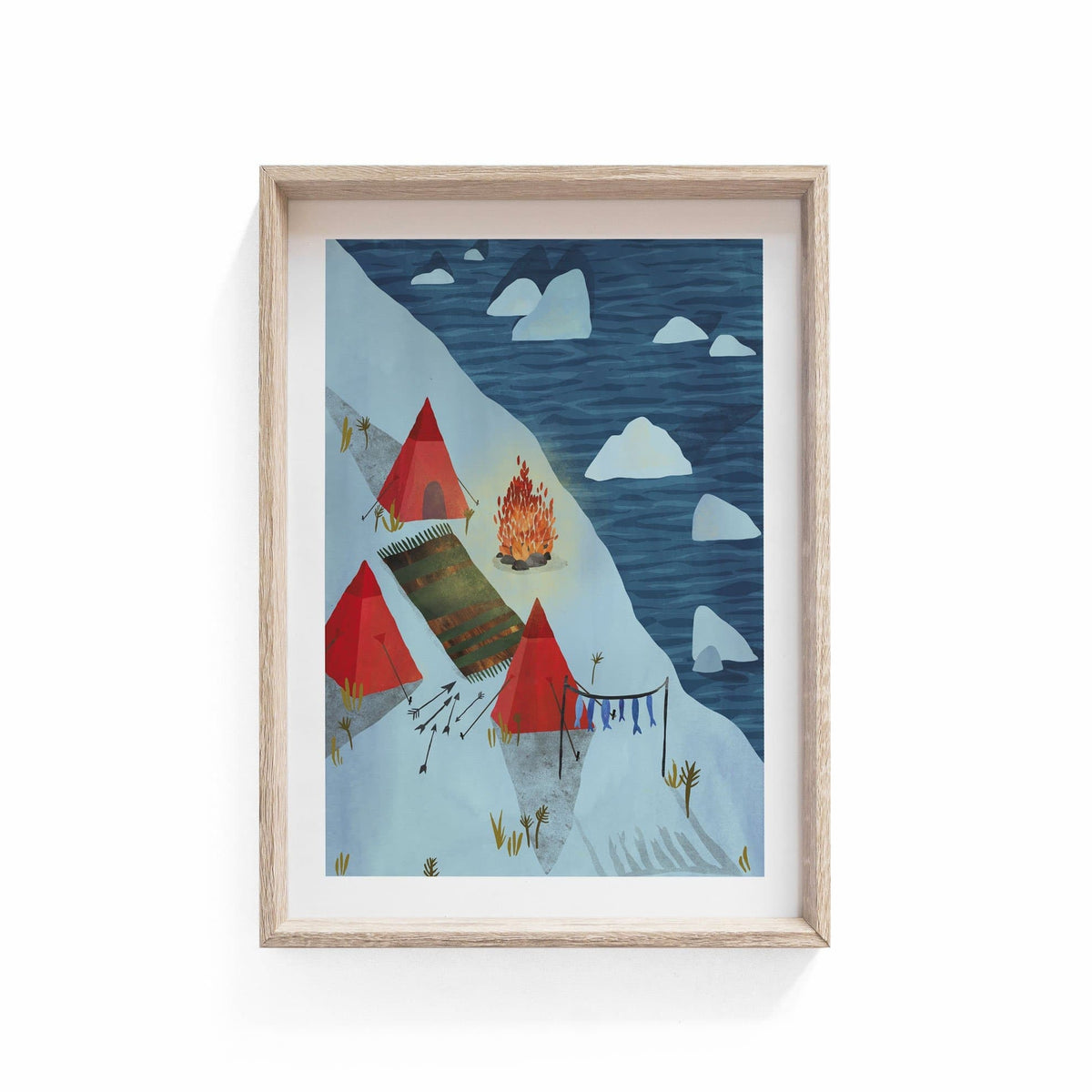 Arctic Illustration Print-Illustration-Hello Grimes-A3-Totem Store