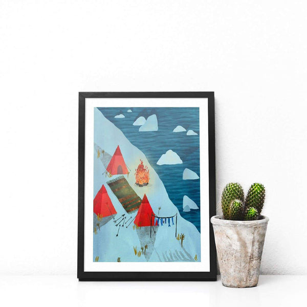 Arctic Illustration Print-Illustration-Hello Grimes-A4-Totem Store