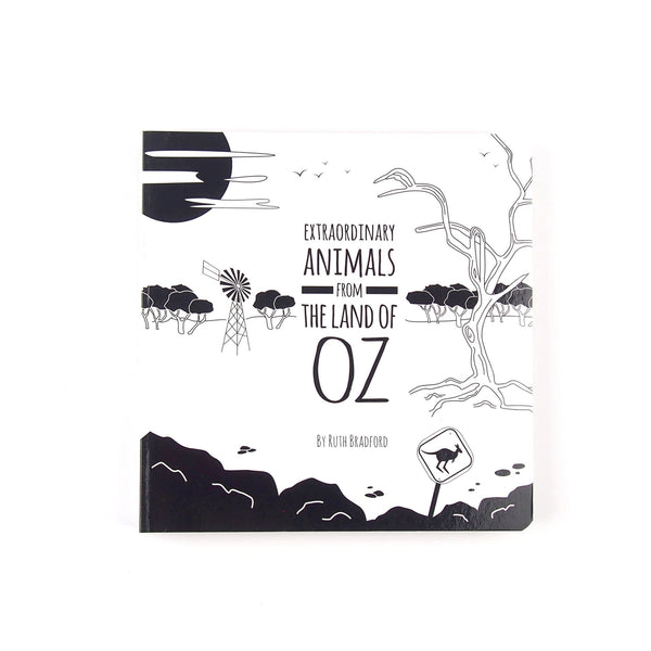 Australian Animals - Baby Book - Black & White Book Project - Totem Store