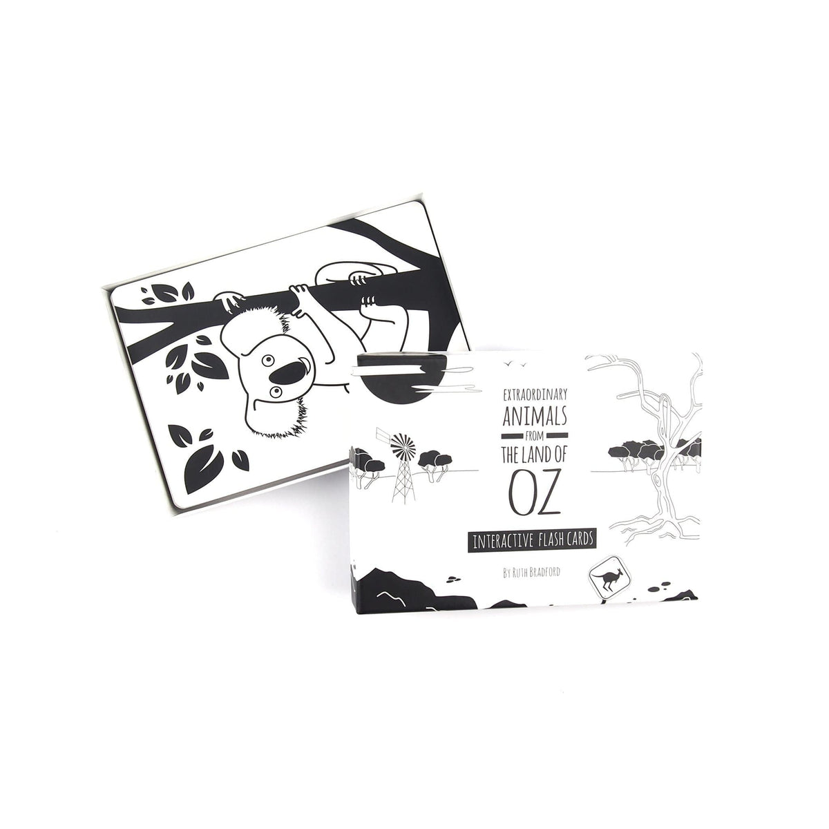 Australian Animals-Flash Cards-Black & White Book Project-Totem Store