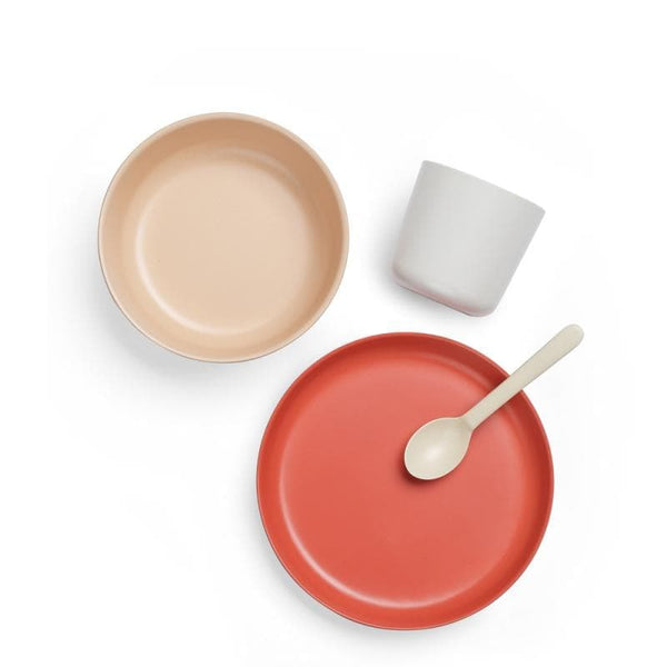 Bamboo Kids Dish Set-Kids Dish Set-Ekobo-Red-Totem Store