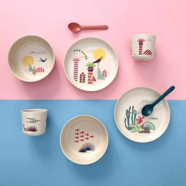 Bamboo Kids Dish Set Trees-Kids Dish Set-Ekobo-Totem Store