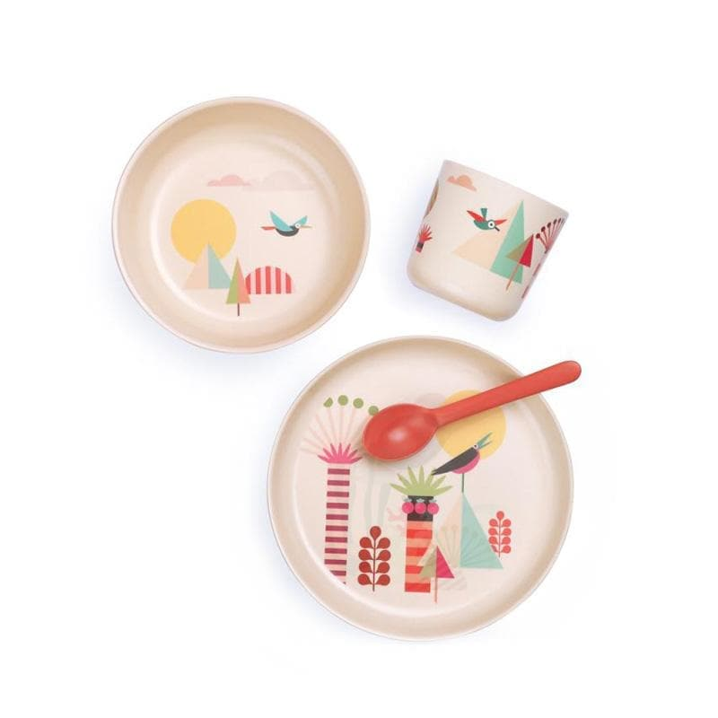 Bamboo Kids Dish Set Trees - Kids Dish Set - Ekobo - Totem Store