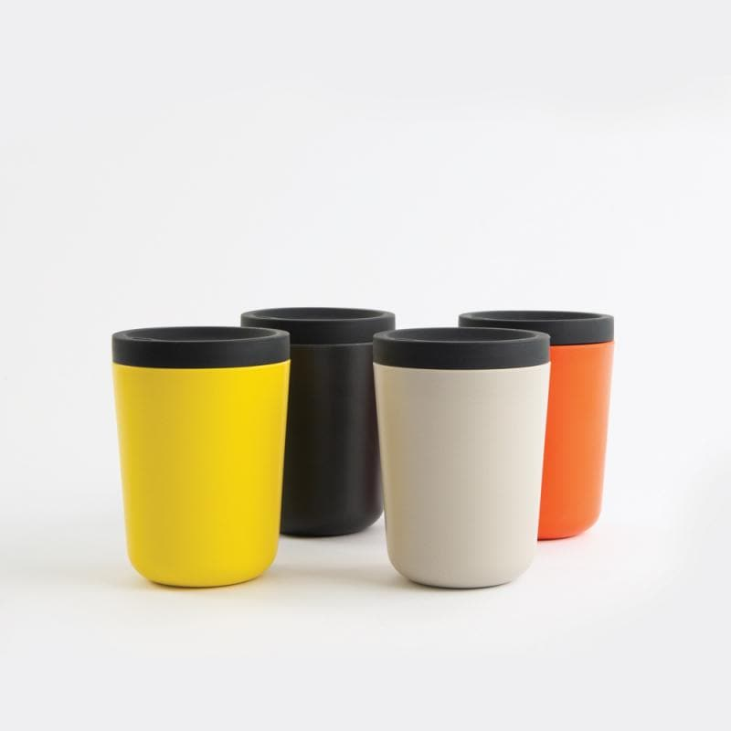 Bamboo Reusable Takeaway Cup-Reusable Cup-Ekobo-Lemon-Totem Store