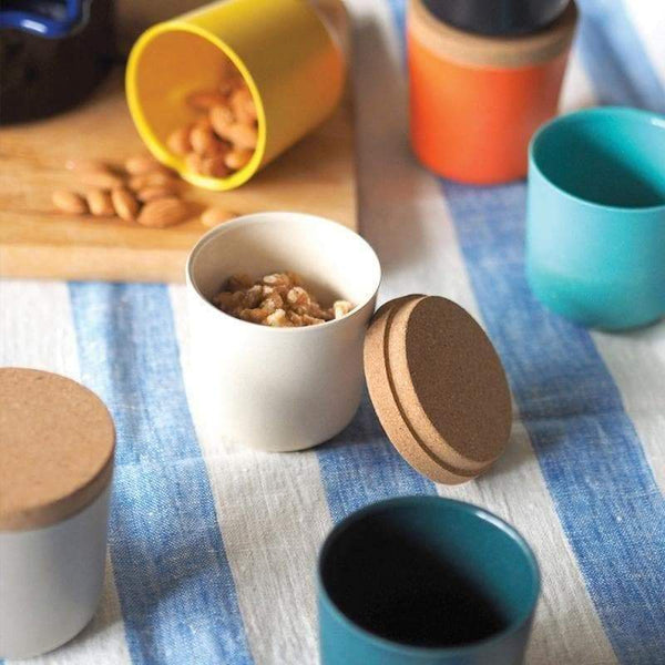 Bamboo Storage Jar Set - Large-Food Container-Ekobo-Persimmon/Black/Lagoon-Totem Store