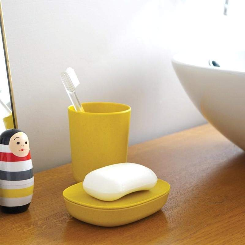 Bamboo Toothbrush Holder-Toothbrush Holder-Ekobo-Lemon-Totem Store
