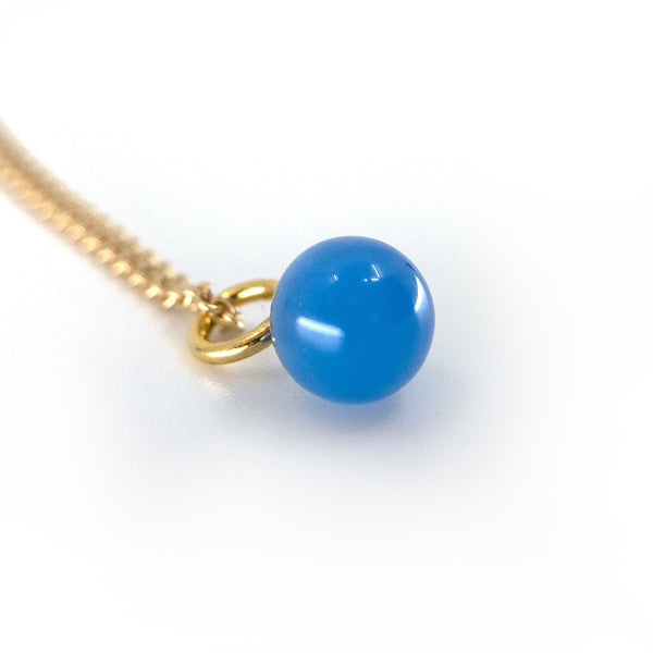 Blue Agate Drop - Gold Plated-Drop Pendant-Yab Studio-Totem Store