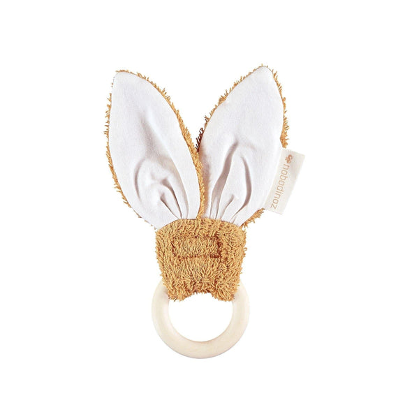 Bunny teether ring-Teether-Nobodinoz-Caramel-Totem Store