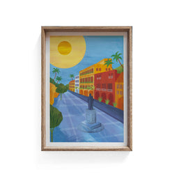 Cartagena, Colombia Illustration Print - Illustration - Hello Grimes - Totem Store