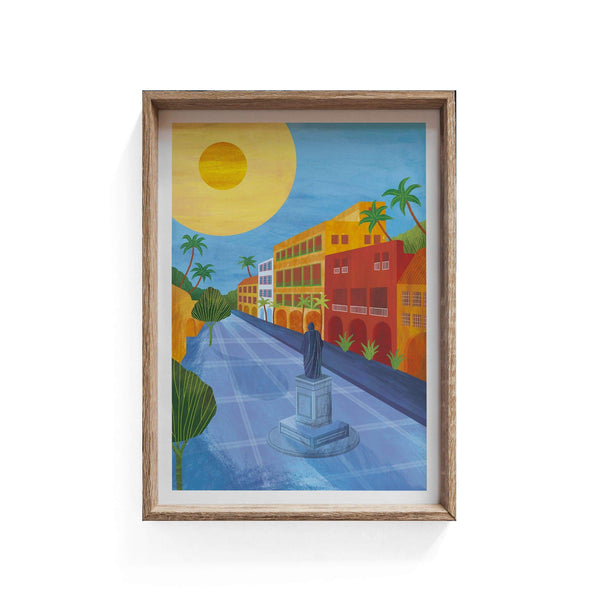 Cartagena, Colombia Illustration Print-Illustration-Hello Grimes-A3-Totem Store