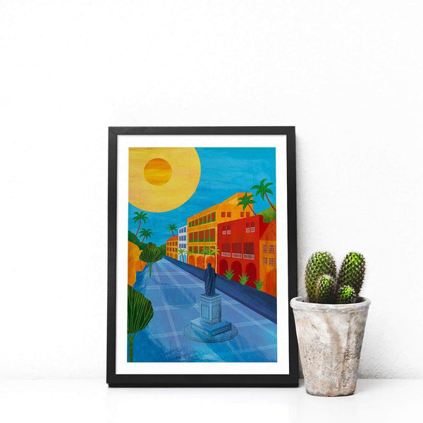 Cartagena, Colombia Illustration Print-Illustration-Hello Grimes-A4-Totem Store