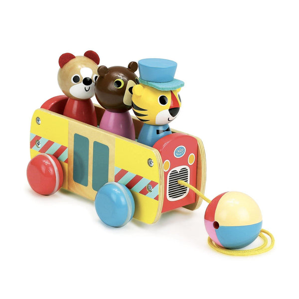 Coach pull toy by Ingela P.Arrhenius-Pull Along-Vilac-Totem Store