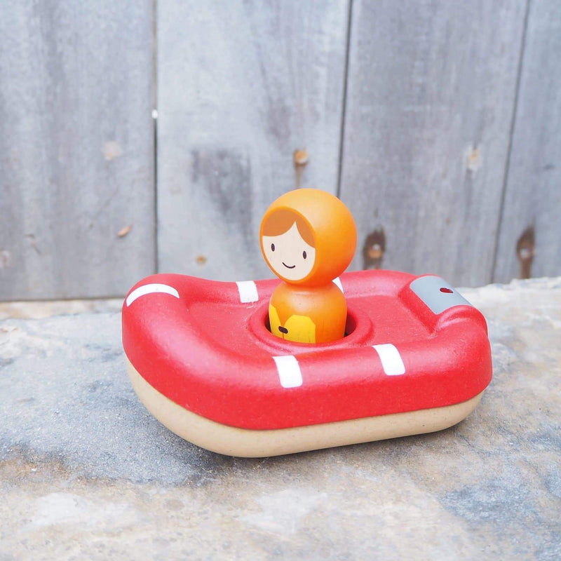 Coast Guard Boat - Water Play - Plan Toys - Totem Store