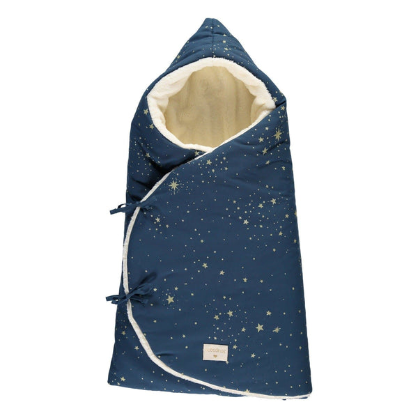Cozy Winter Baby Nest Bag 0-3 Months-Sleeping Bag-Nobodinoz-Gold Stella Blue-Totem Store