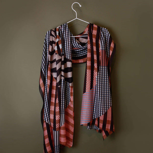 Domino Coral Scarf-Scarf-Mapoésie-Totem Store