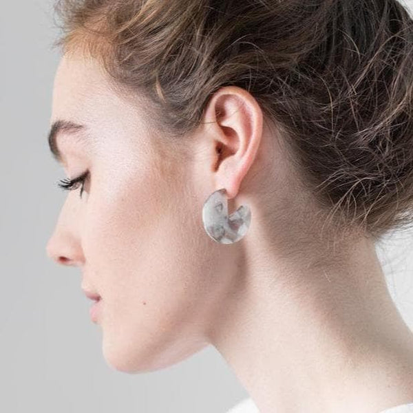 Earth Segment Studs-Studs Earrings-One & Eight-Totem Store