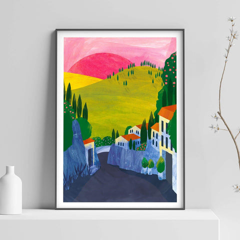 Fiesole Illustration Print-Illustration-Hello Grimes-A2-Totem Store