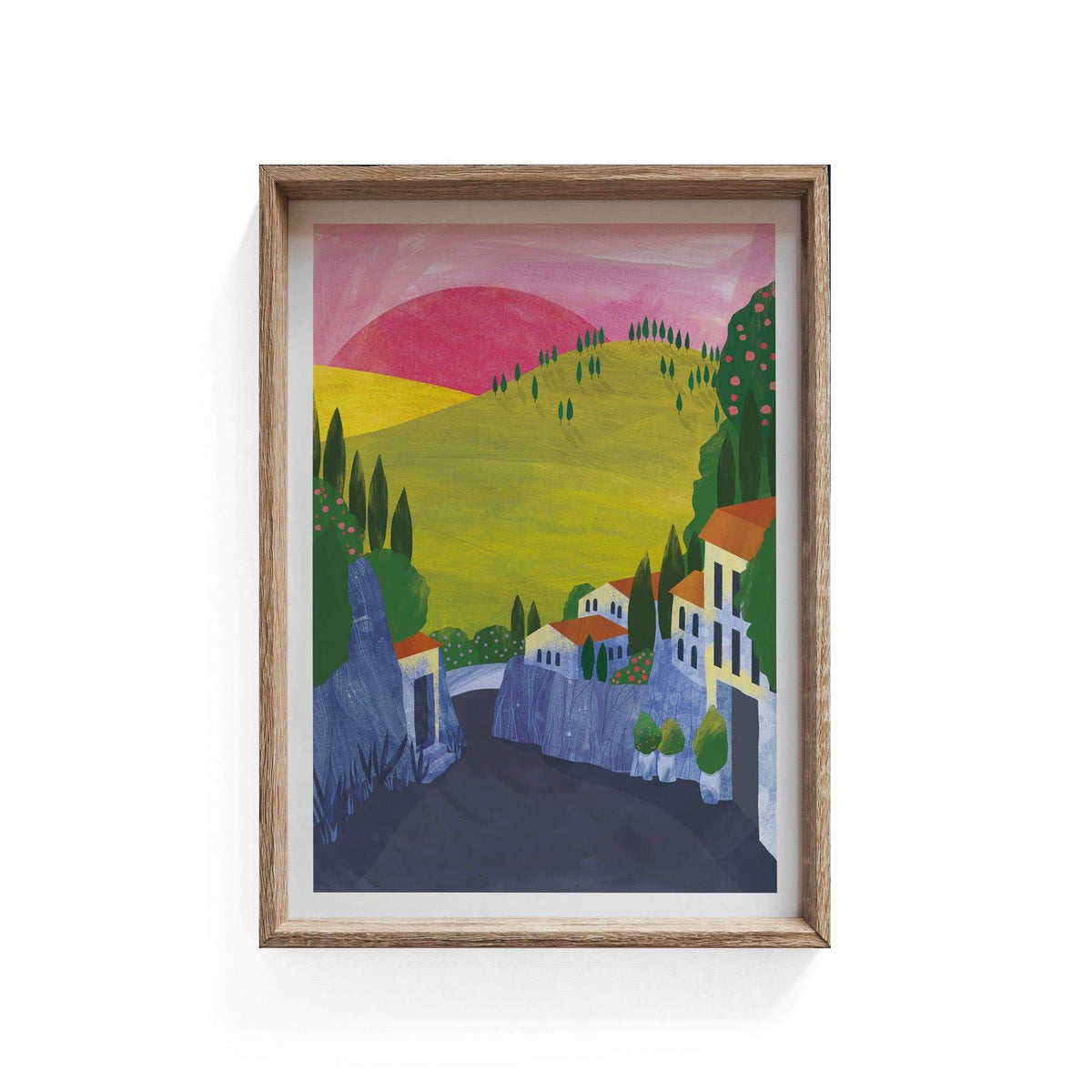 Fiesole Illustration Print-Illustration-Hello Grimes-A3-Totem Store