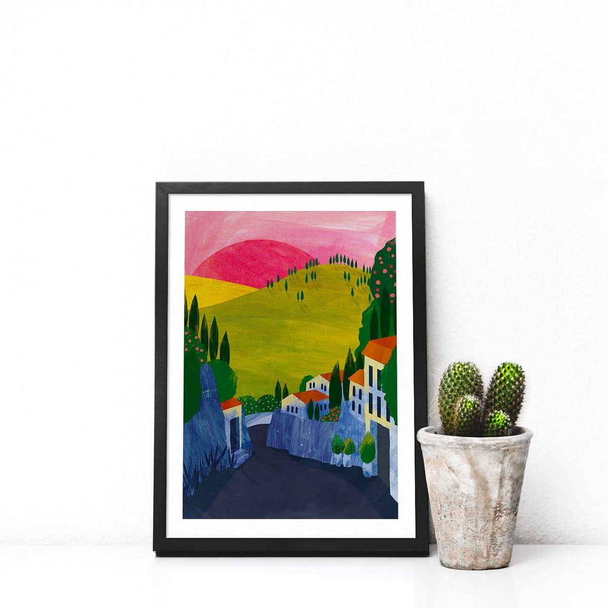 Fiesole Illustration Print-Illustration-Hello Grimes-A4-Totem Store