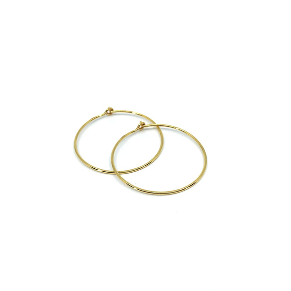 Fine Hoops - Gold Plated-Hoop Earrings-Yab Studio-30mm-Totem Store