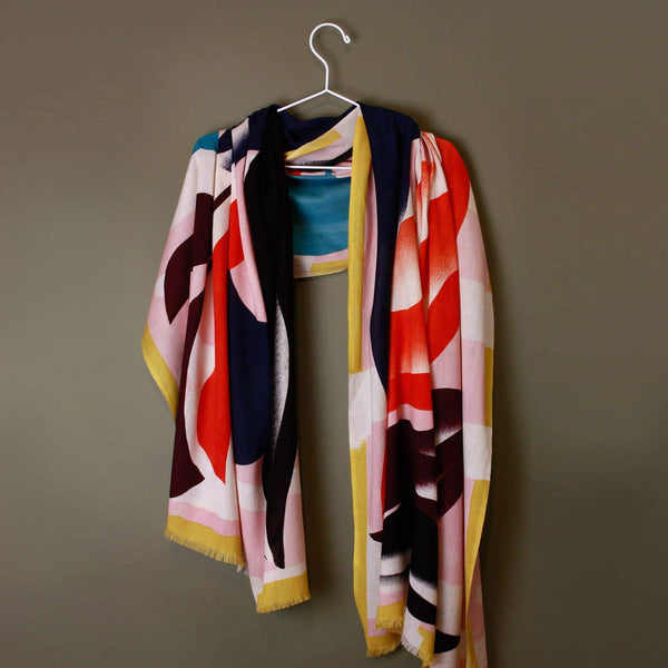 Florilege Coral Scarf-Scarf-Mapoésie-Totem Store