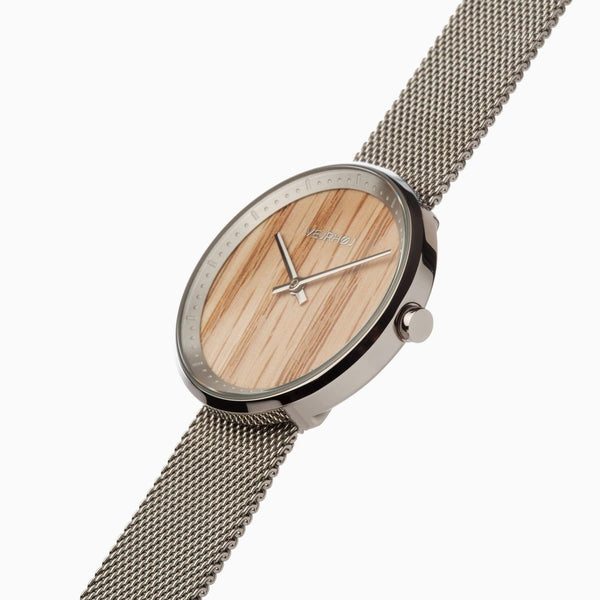 Freya - Stainless Steel & Oak Wood Watch - Watch - VEJRHØJ - Totem Store