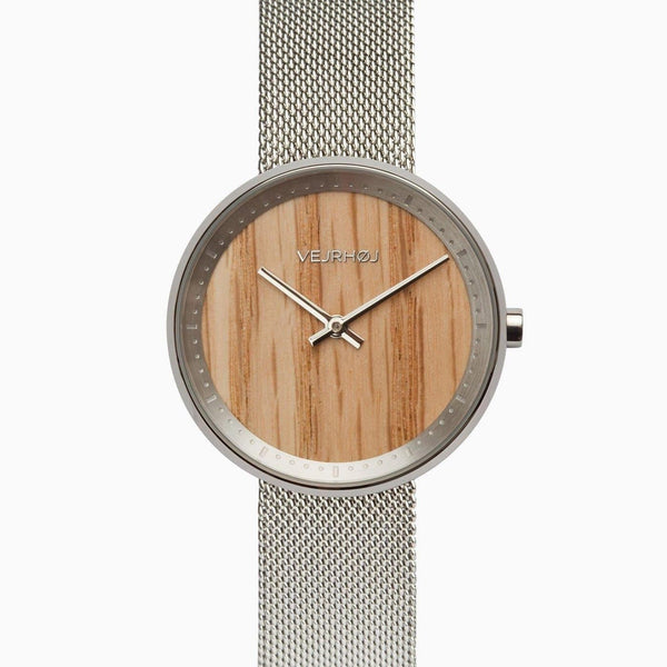 Freya - Stainless Steel & Oak Wood Watch-Watch-VEJRHØJ-Totem Store