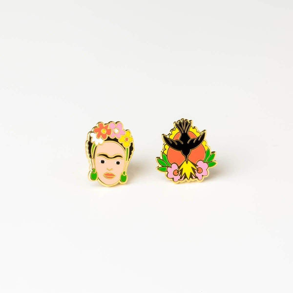 Frida Kahlo & Milagro Earrings-Studs Earrings-Yellow Owl Workshop-Totem Store