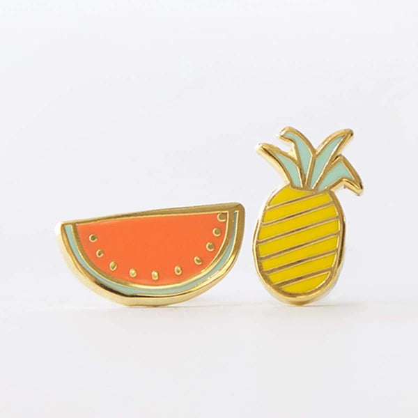 Fruits Earrings-Studs Earrings-Yellow Owl Workshop-Totem Store