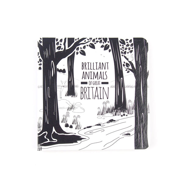 Great Britain Animals - Baby Book - Black & White Book Project - Totem Store