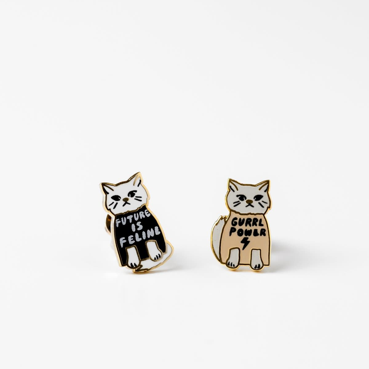 Gurrrl Power Earrings-Studs Earrings-Yellow Owl Workshop-Totem Store