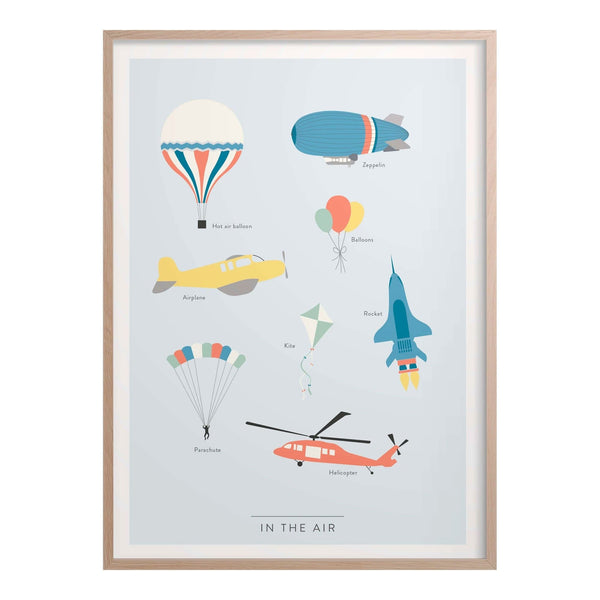In the Air Kids Poster - Infographic Print - Kunskapstavlan - Totem Store