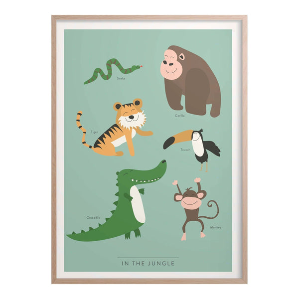 In the Jungle Kids Poster-Infographic Print-Kunskapstavlan-Totem Store
