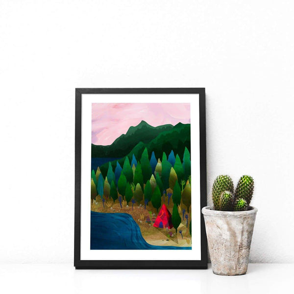 Lakeside Illustration Print - Illustration - Hello Grimes - Totem Store