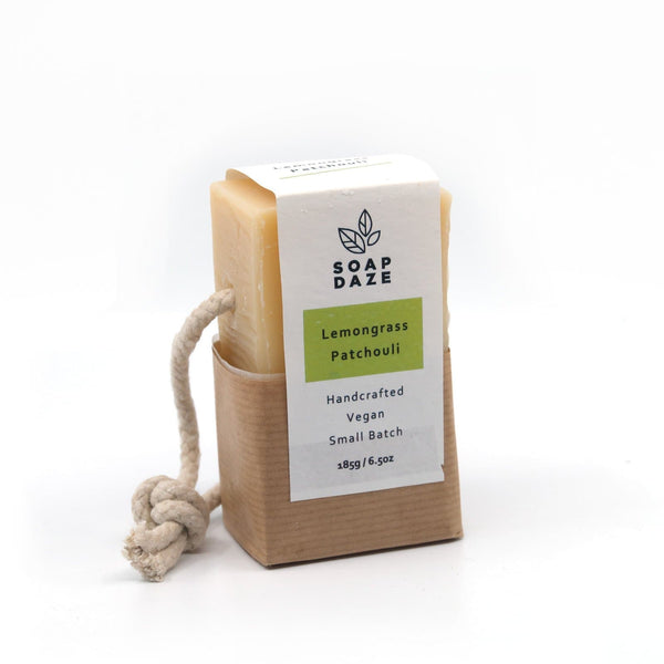 Lemongrass & Patchouli - On a Rope - Soap Bar - Soap Daze - Totem Store