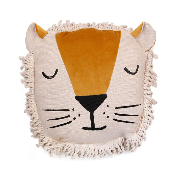 Lion Animal Cushion-Cushion-Nobodinoz-Totem Store