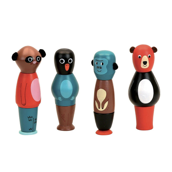 Magnetic animals stacking set by Ingela P.Arrhenius - Learning Toy - Vilac - Totem Store