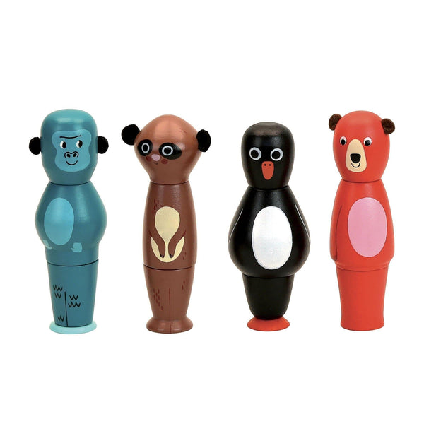 Magnetic animals stacking set by Ingela P.Arrhenius-Learning Toy-Vilac-Totem Store