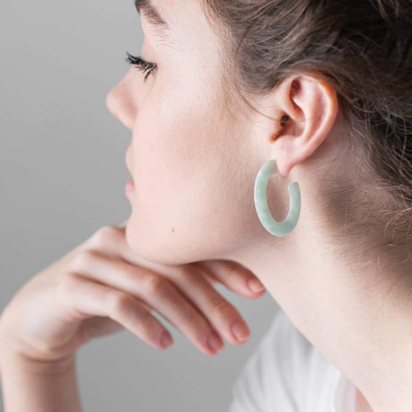 Mint Loop Studs-Studs Earrings-One & Eight-Totem Store