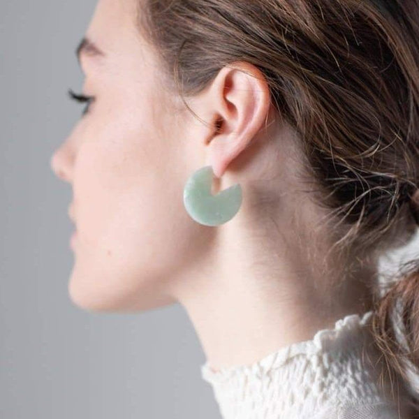 Mint Segment Studs-Studs Earrings-One & Eight-Totem Store