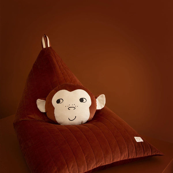 Monkey Animal Cushion-Cushion-Nobodinoz-Totem Store