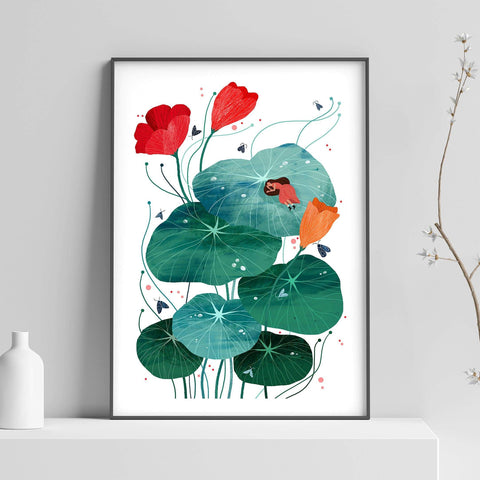 Nasturtium Illustration Print-Illustration-Hello Grimes-A2-Totem Store
